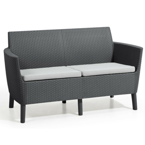 Allibert Salema 2 seater sofa - grafit