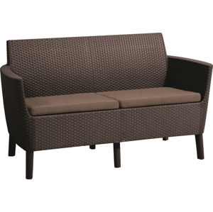 Allibert Salema 2 seater sofa - hnedá