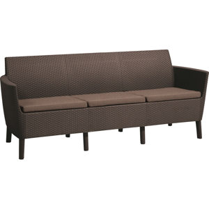 Allibert Salema 3 seater sofa - hnedá