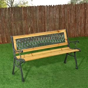 Eshopist 2-miestna záhradná lavička Pisa z lakovaného dreva a kovu