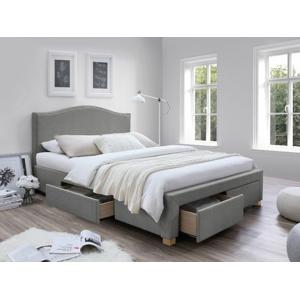 Eshopist Čalúnená posteľ CELINE 160 x 200 cm farba šedá/dub