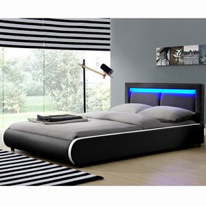 """Eshopist Čalúnená posteľ ,,Murcia"""" 140 x 200 cm - čierna"""