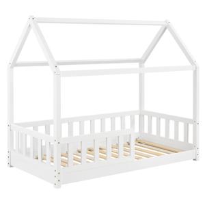 Eshopist Detská posteľ Marli 80 x 160 cm s lamelovým roštom v bielej farbe
