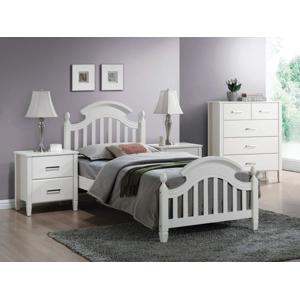 Eshopist Drevená posteľ LIZBONA 140 x 200 cm farba biela