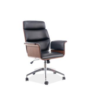 Eshopist Kancelárska stolička OREGON čierna eko koža