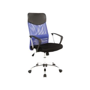 Eshopist Kancelárska stolička Q-025 modro/čierna