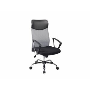 Eshopist Kancelárska stolička Q-025 šedo/čierna