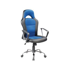Eshopist Kancelárska stolička Q-033 čierna/modrá