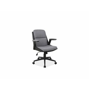 Eshopist Kancelárska stolička Q-332 sivá materiál/čierna eko koža