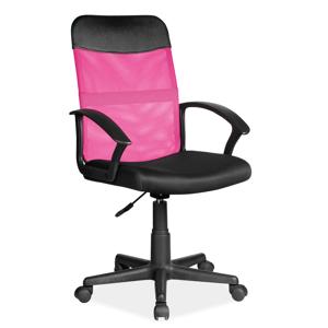 Eshopist Kancelárska stolička Q-702 ružová/čierna