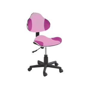 Eshopist Kancelárska stolička Q-G2 ružová