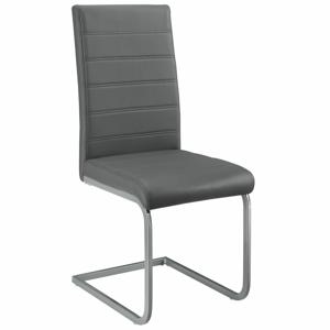 Eshopist Konzolová stolička Vegas sada 2 kusov zo syntetickej kože v sivej farbe