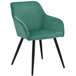 Eshopist Lounge stolička Tarje so zamatovým poťahom v zelenej farbe