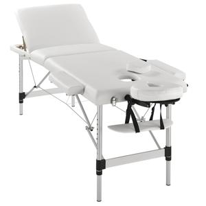 """Eshopist ,,Masážny stôl"""", hliníkový rám (biela) 180 x 60 cm"""