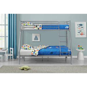 """Eshopist Poschodová postel """"Jonas"""" strieborná 90 x 190 cm"""