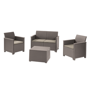 Keter EMMA 2 seaters sofa set - cappuccino